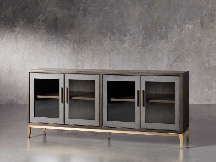 "Malone 71"" Media Console with Glass Doors in Dark Walnut, slide 2 of 8"
