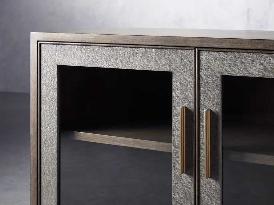 "Malone 71"" Media Console with Glass Doors in Dark Walnut, slide 5 of 8"