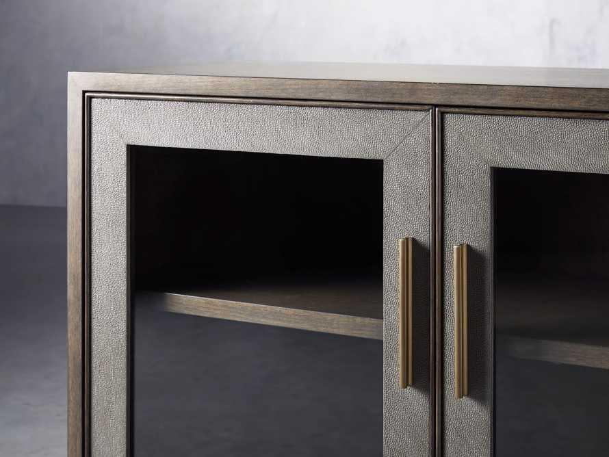 "Malone 71"" Media Console with Glass Doors in Dark Walnut, slide 5 of 8"