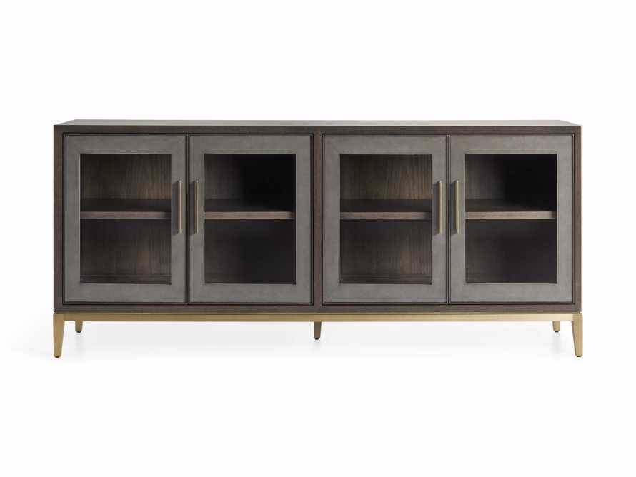 "Malone 71"" Media Console with Glass Doors in Dark Walnut, slide 7 of 8"