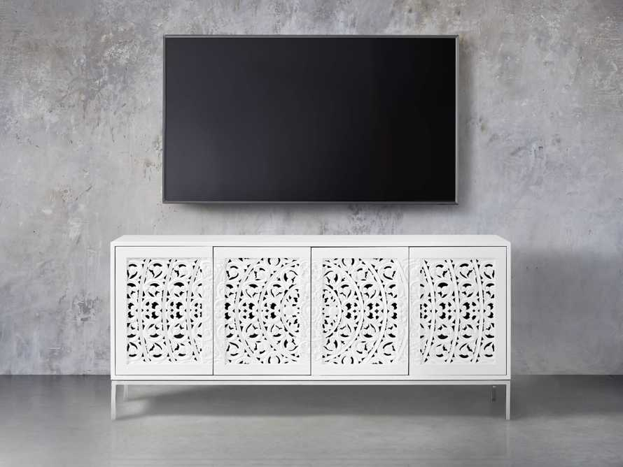 "Mandara 71"" Media Console in Jepara White, slide 5 of 7"
