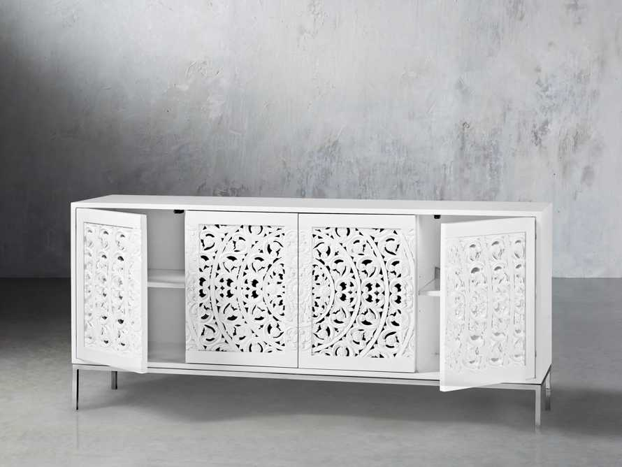 "Mandara 71"" Media Console in Jepara White, slide 2 of 7"