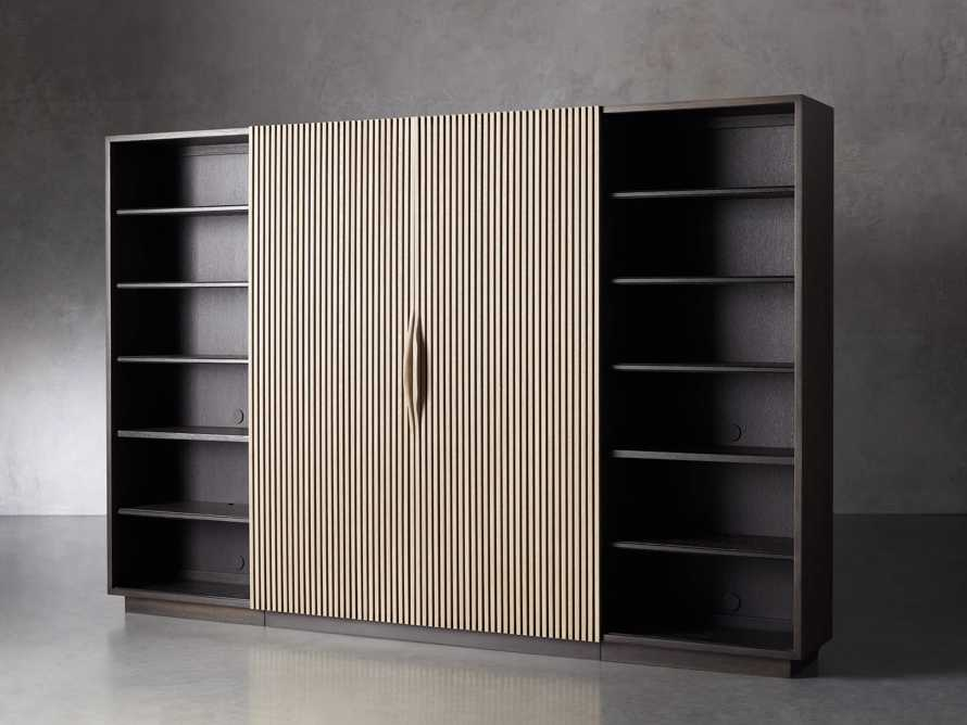 "Newton 127"" Wall Unit with Oak Doors, slide 2 of 10"