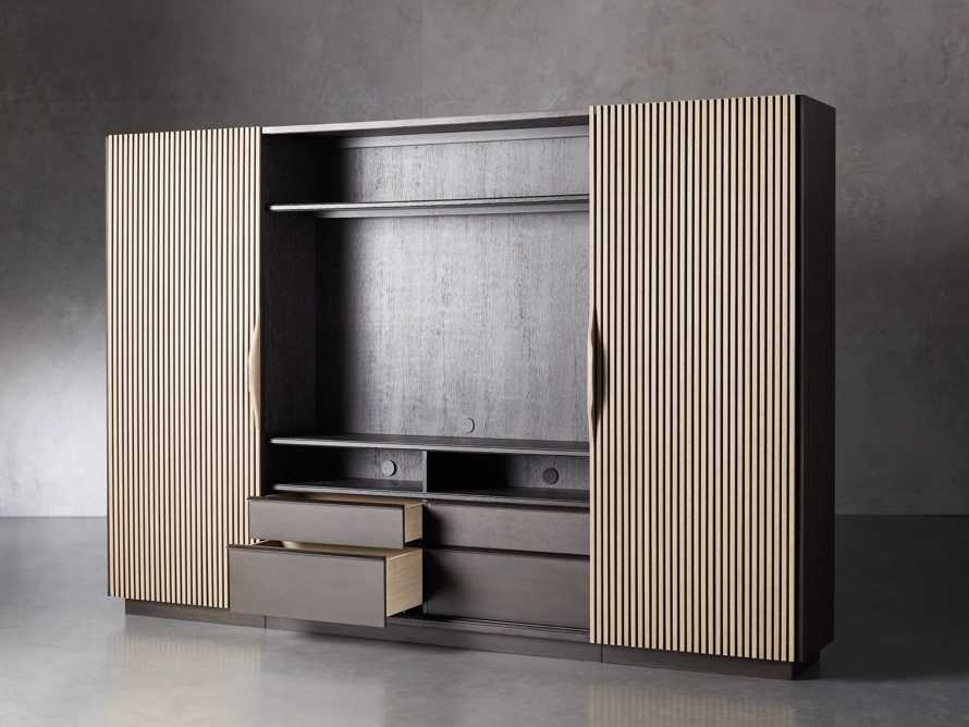 "Newton 127"" Wall Unit with Oak Doors, slide 4 of 10"
