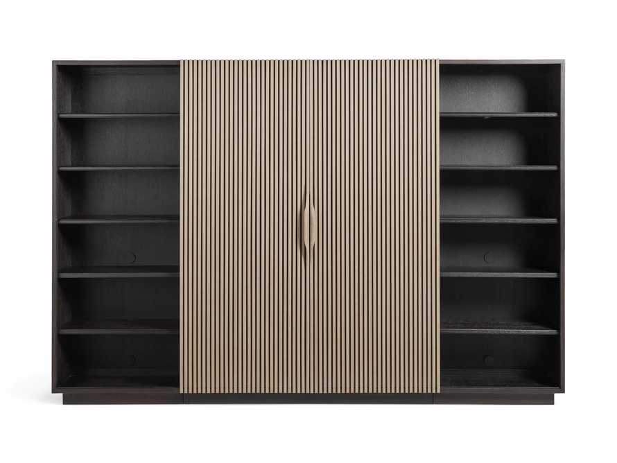 "Newton 127"" Wall Unit with Oak Doors, slide 8 of 10"