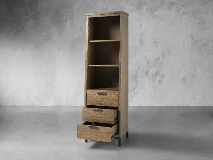 Palmer Angled Bookcase In Natural Oak