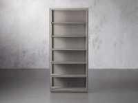 """Pearson 38"""" Open Bookcase in Fog"""
