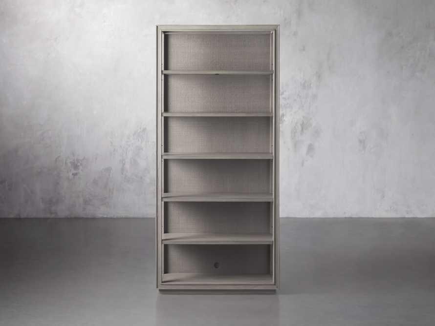 "Pearson 38"" Open Bookcase in Fog, slide 1 of 4"