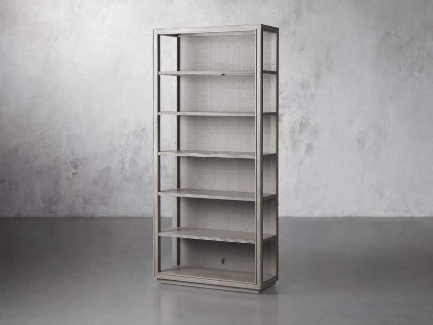 "Pearson 38"" Open Bookcase in Fog, slide 2 of 4"
