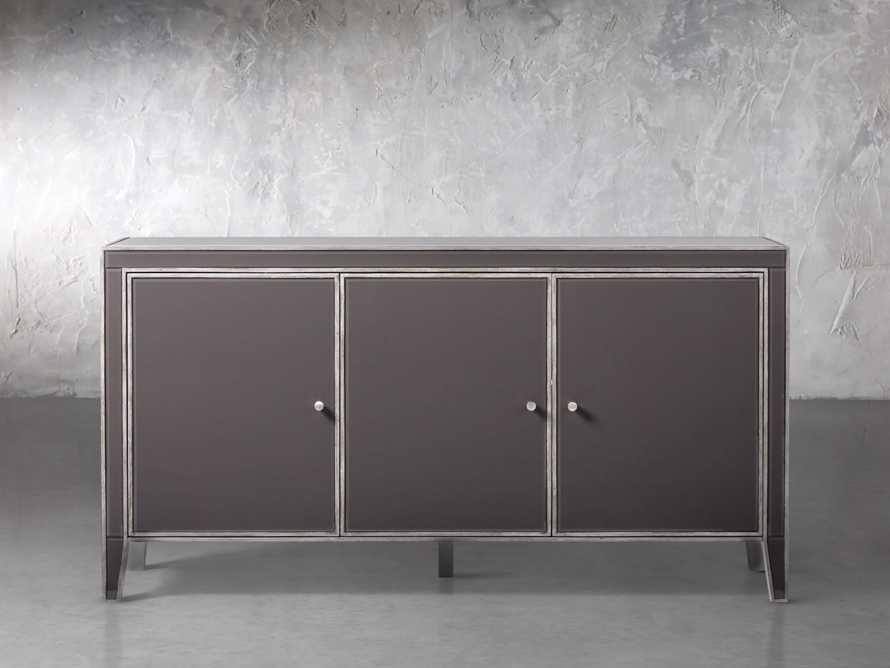 Reese 3 Door Media Console in Galleria Grey, slide 1 of 6