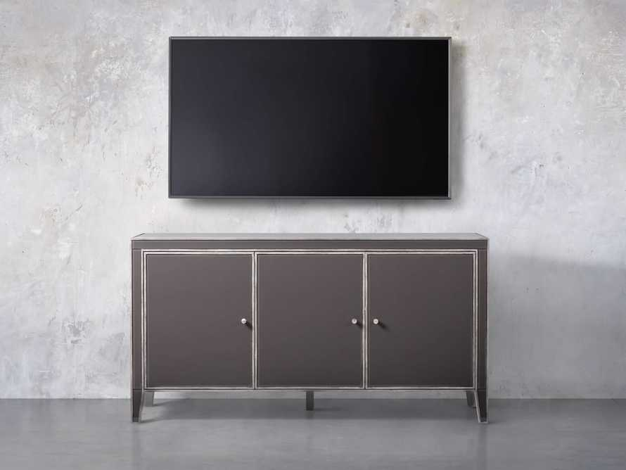Reese 3 Door Media Console in Galleria Grey, slide 5 of 6