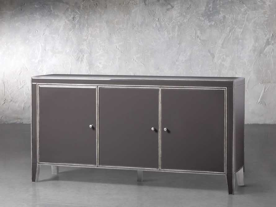 Reese 3 Door Media Console in Galleria Grey, slide 2 of 6