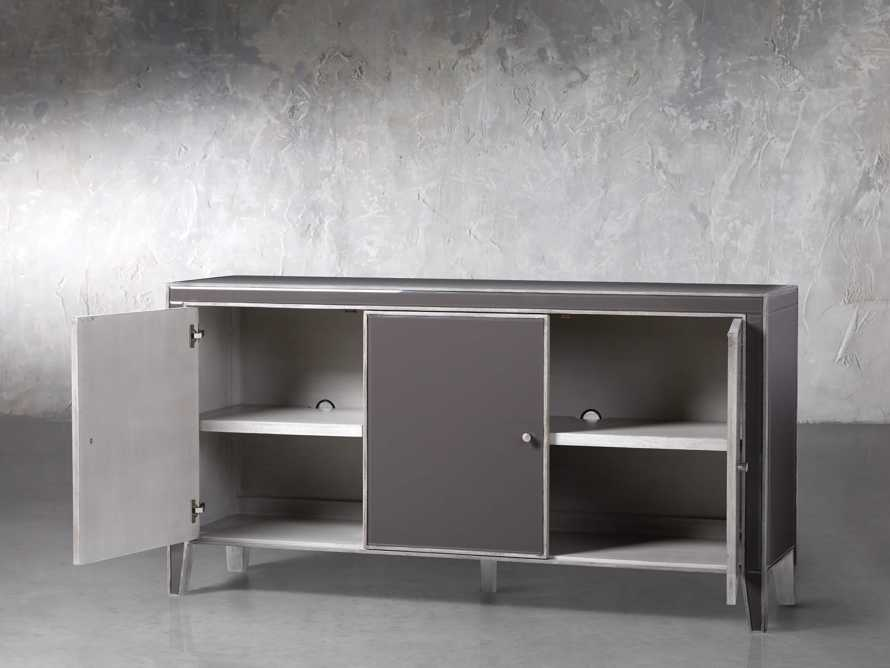 Reese 3 Door Media Console in Galleria Grey, slide 3 of 6