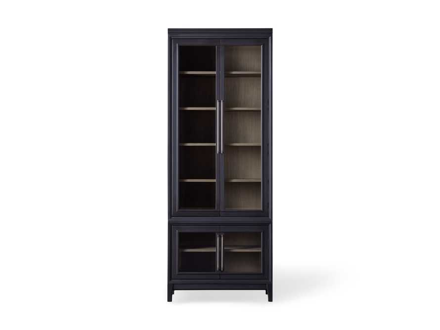 Rowan Beveled Glass-Double Door Cabinet in Black, slide 3 of 3