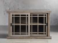 """Spencer 48"""" Glass Cabinet in Stone on Ash"""