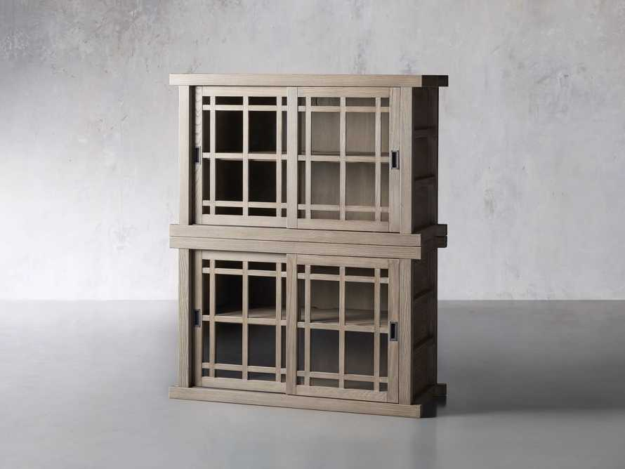 """Spencer 48"""" Double Cabinet in Shiitake, slide 2 of 4"""