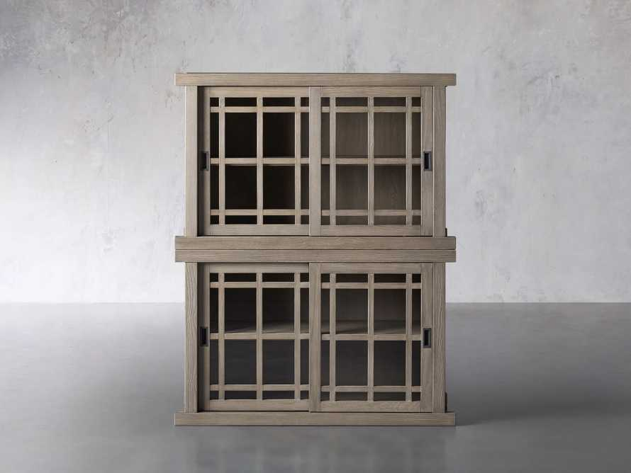 """Spencer 48"""" Double Cabinet in Shiitake, slide 1 of 4"""