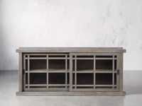 """Spencer 71"""" Bookcase with Glass Doors in Stone on Ash"""