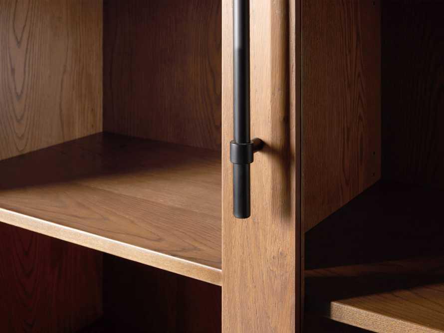 """Sullivan 44"""" Display Cabinet in Northman Oak, slide 5 of 9"""