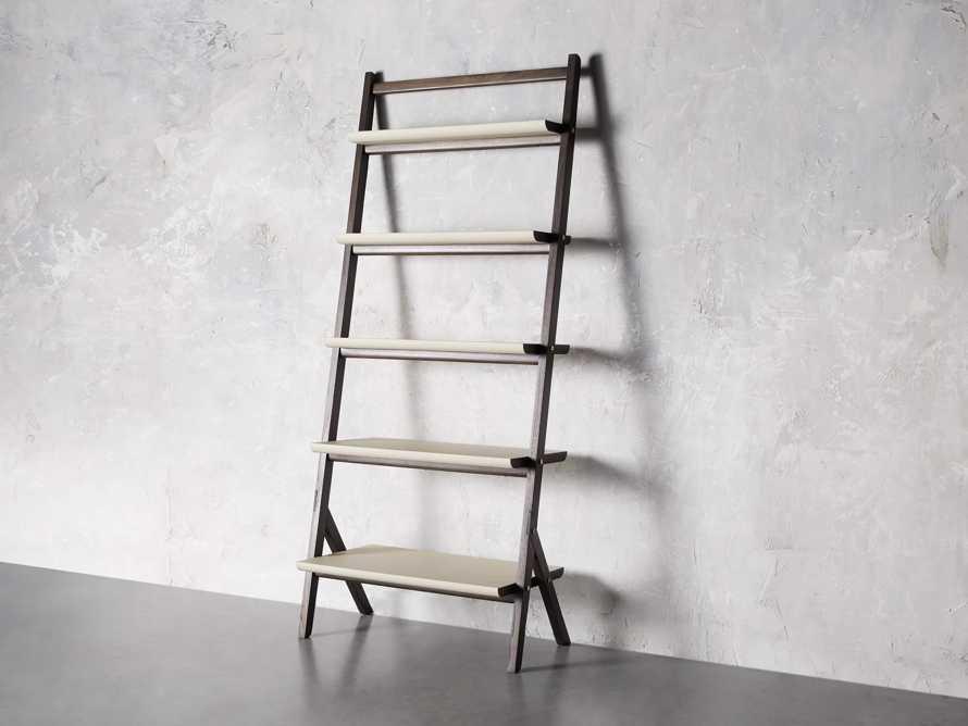 "Torre 37"" Bookcase in Cream, slide 2 of 8"