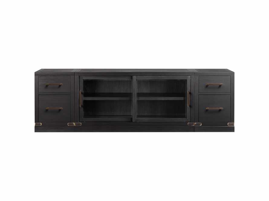 "Tremont Modular 100"" Media Console in Dry Branch Black, slide 3 of 4"