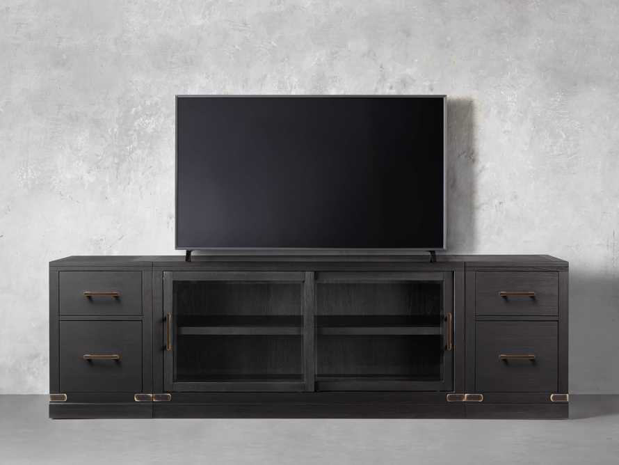 "Tremont Modular 100"" Media Console in Dry Branch Black, slide 2 of 4"