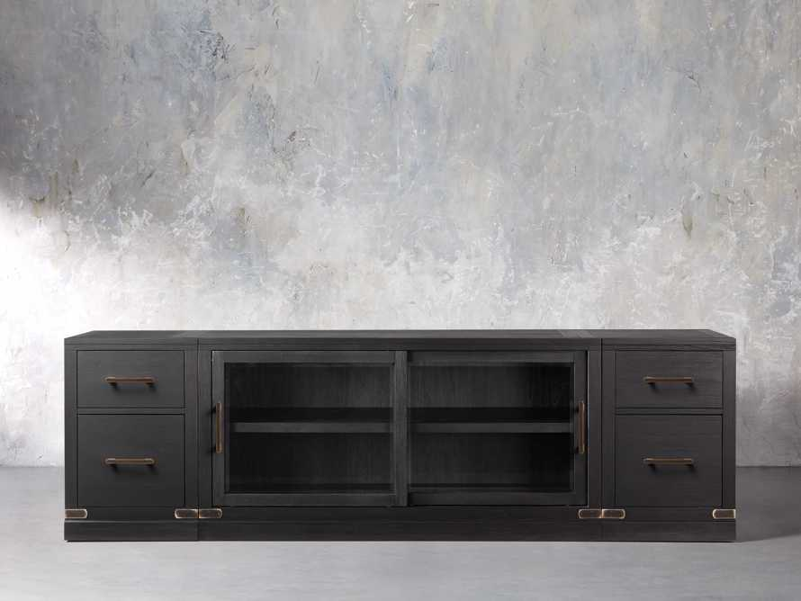 "Tremont Modular 100"" Media Console in Dry Branch Black, slide 1 of 4"