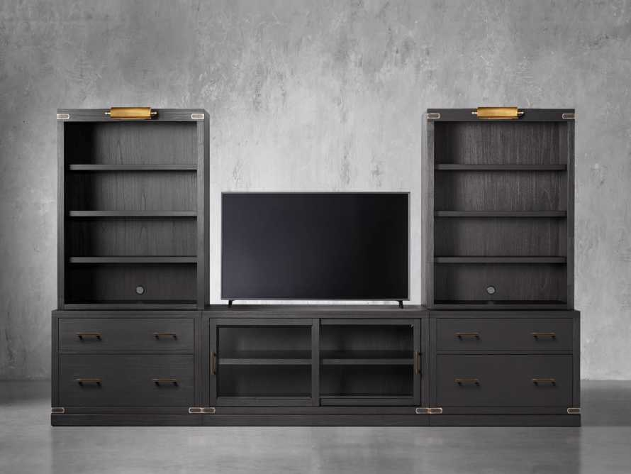 "Tremont Modular 140"" Media Unit in Dry Branch Black"
