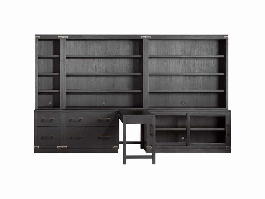 "Tremont Modular 140"" Library Workspace in Dry Branch Black, slide 2 of 3"