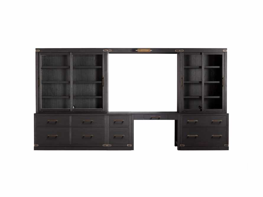 "Tremont Modular 160"" Wall Desk Unit in Dry Branch Black"
