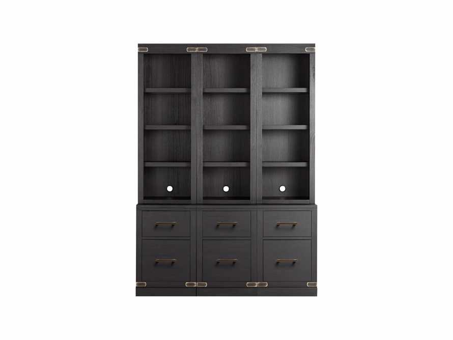 "Tremont Modular 60"" Triple Bookcase in Dry Branch Black, slide 2 of 2"