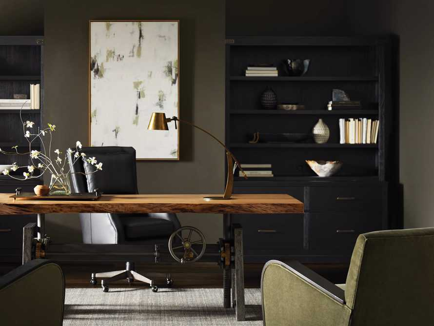 "Tremont Modular 60"" Bookcase in Dry Branch Black, slide 2 of 8"