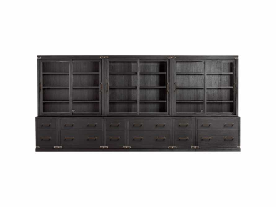 "Tremont Modular 180"" Triple Cabinet in Dry Branch Black, slide 3 of 3"