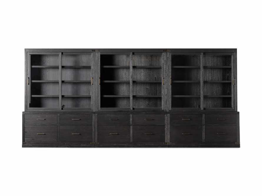 "Tremont 180"" Triple Cabinet with Brass Handles in Dry Branch Black, slide 4 of 4"