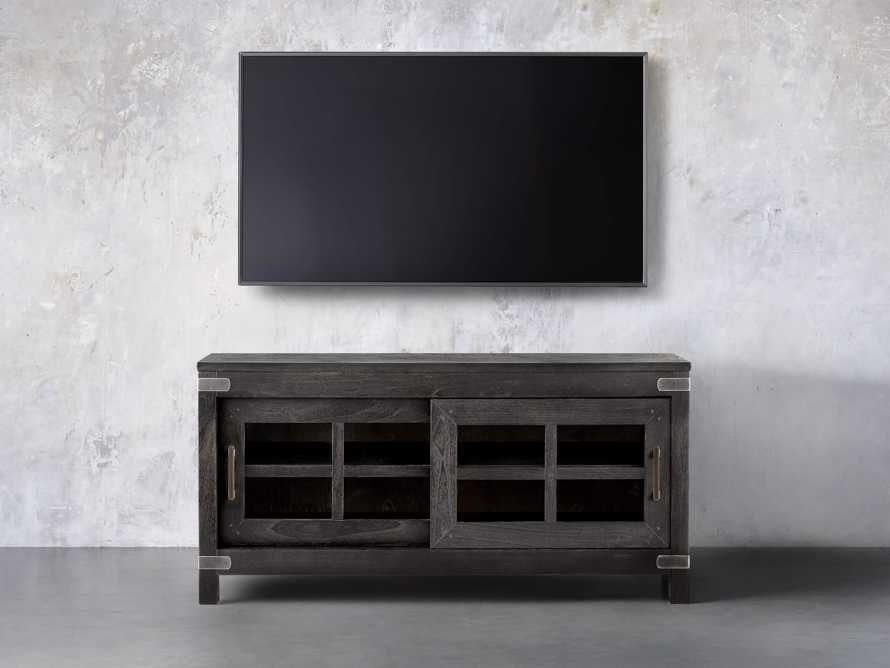 Tremont Small Media Console In Dry Branch Black
