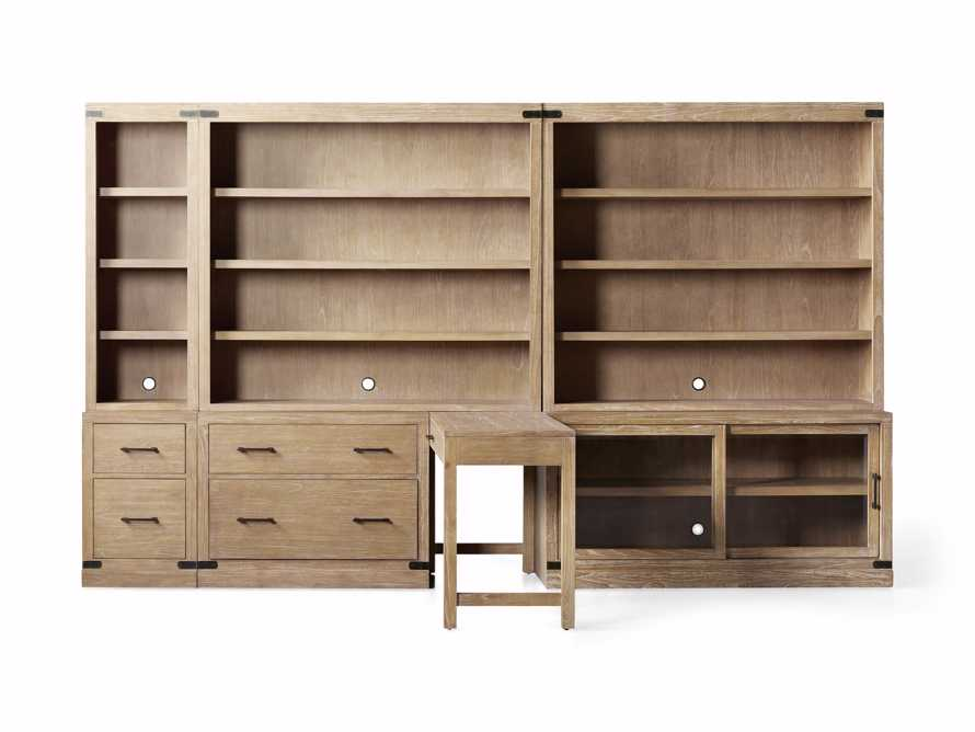 """Tremont Modular 140"""" Library Workspace in Dry Branch Natural, slide 4 of 4"""