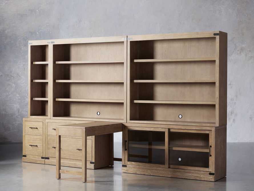 """Tremont Modular 140"""" Library Workspace in Dry Branch Natural, slide 2 of 4"""