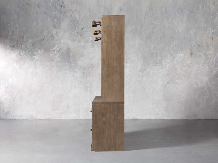 """Tremont Modular 120"""" Triple Bookcase with Brass Handles in DRY BRANCH NATURAL, slide 5 of 12"""