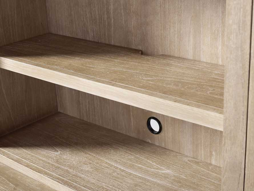 """Tremont Modular 120"""" Triple Bookcase with Brass Handles in DRY BRANCH NATURAL, slide 10 of 12"""
