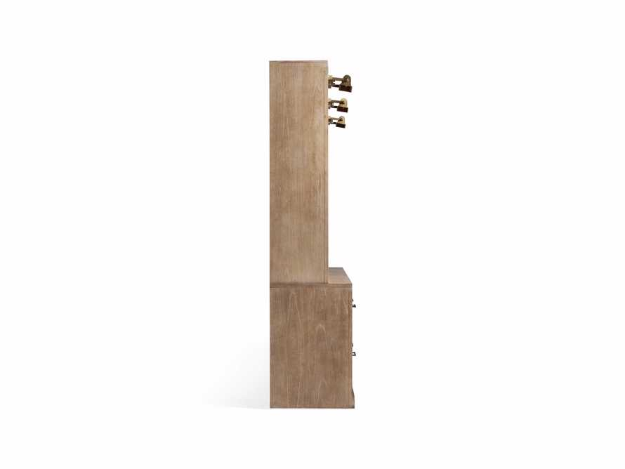 """Tremont Modular 120"""" Triple Bookcase with Brass Handles in DRY BRANCH NATURAL, slide 12 of 12"""