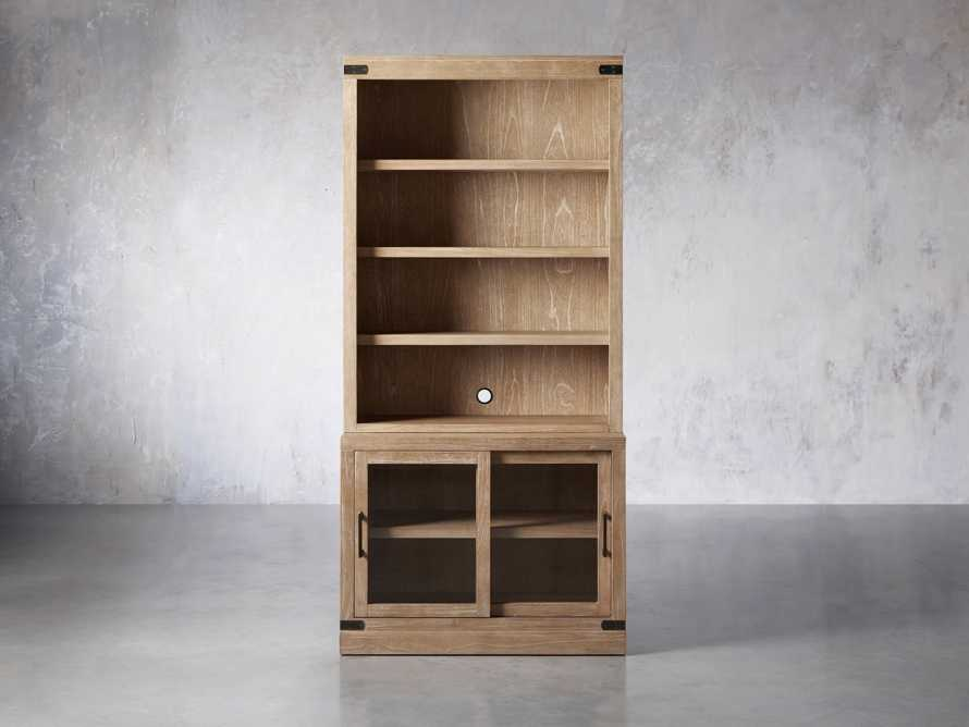"""Tremont Modular 40"""" Bookcase Top and Cabinet Base in Dry Branch Natural, slide 1 of 5"""