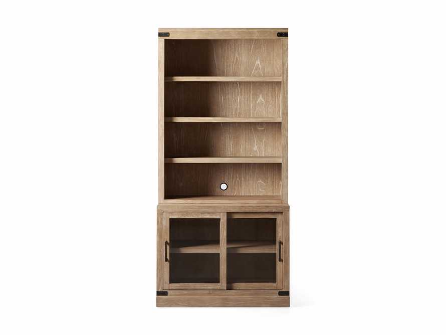 "Tremont Modular 40"" Bookcase Top and Cabinet Base in Dry Branch Natural, slide 5 of 5"