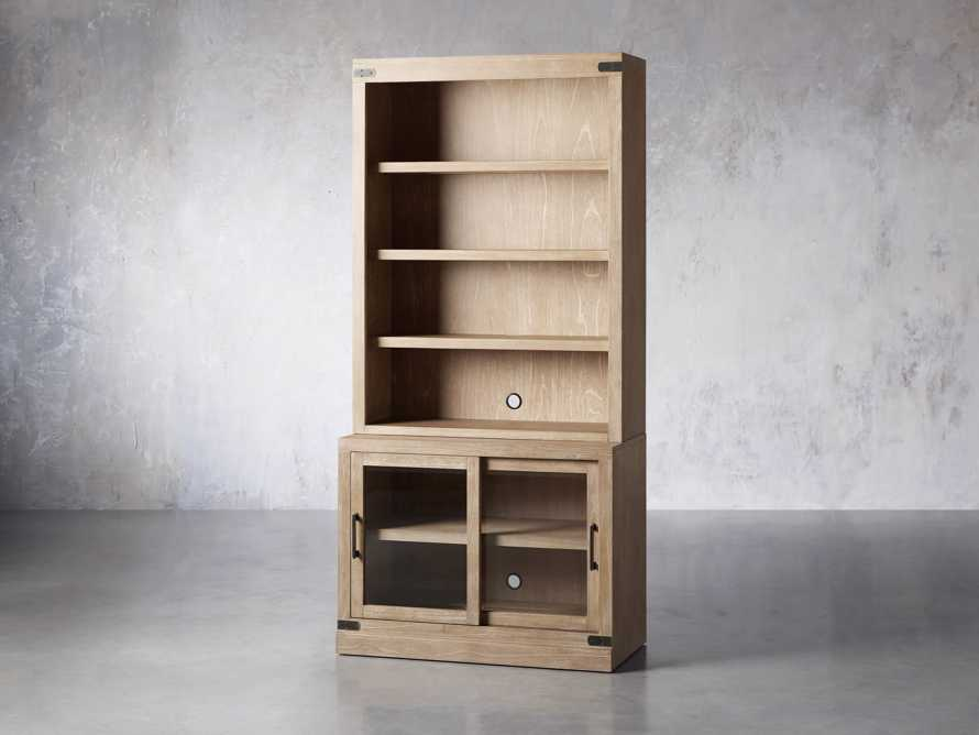 """Tremont Modular 40"""" Bookcase Top and Cabinet Base in Dry Branch Natural, slide 2 of 5"""