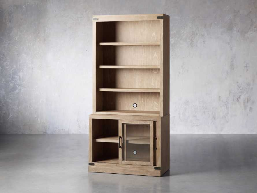 """Tremont Modular 40"""" Bookcase Top and Cabinet Base in Dry Branch Natural, slide 3 of 5"""