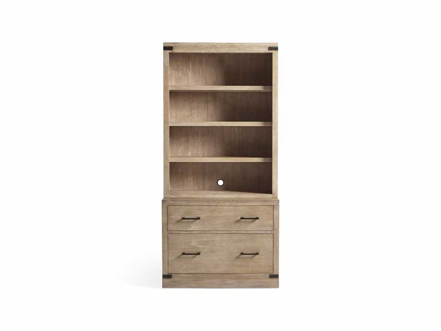 "Tremont Modular 40"" Bookcase with Brass Handles in DRY BRANCH NATURAL, slide 9 of 10"