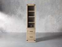 """Tremont Modular 20"""" Bookcase with Brass Handles in DRY BRANCH NATURAL"""