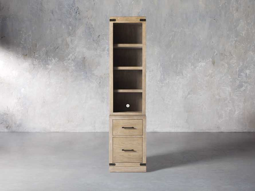 """Tremont Modular 20"""" Bookcase with Brass Handles in DRY BRANCH NATURAL, slide 1 of 10"""