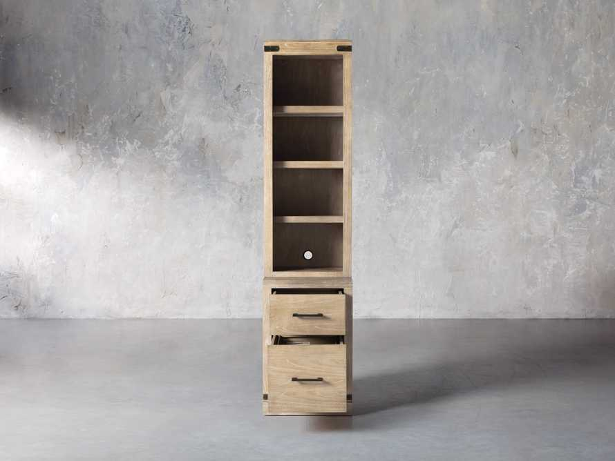 """Tremont Modular 20"""" Bookcase with Brass Handles in DRY BRANCH NATURAL, slide 2 of 10"""
