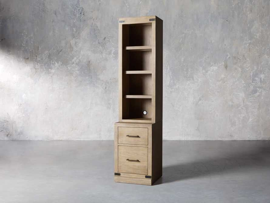 """Tremont Modular 20"""" Bookcase with Brass Handles in DRY BRANCH NATURAL, slide 3 of 10"""