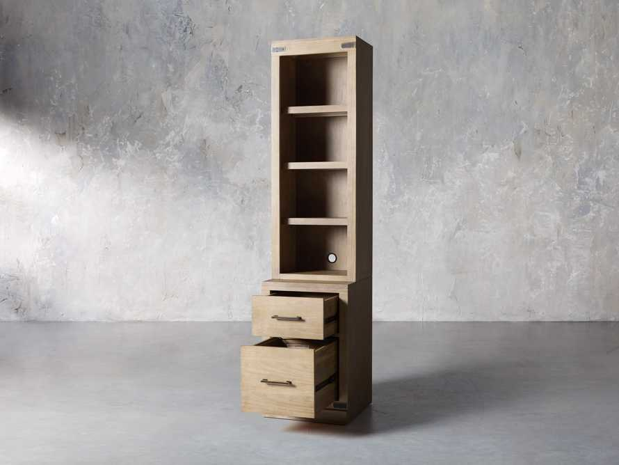 """Tremont Modular 20"""" Bookcase with Brass Handles in DRY BRANCH NATURAL, slide 4 of 10"""